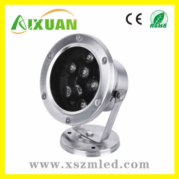 High power high lumen 7*1w ip65 LED Underwater light with 2y warranty